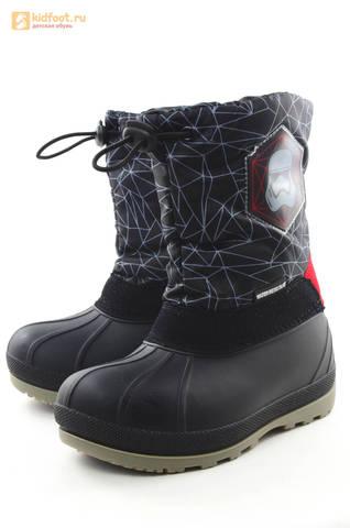 Зимние сапоги для мальчиков непромокаемые с резиновой галошей Звездные войны (Star Wars), цвет черный, Water Resistant. Изображение 6 из 16.