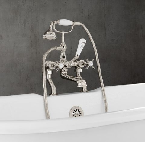 1900 Classic Cross-Handle Deck-Mount Tub Fill