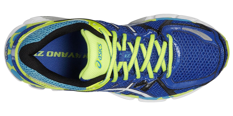 Детские беговые кроссовки Asics Gel-Kayano 21 GS (C459N 4201) синие ото сверху