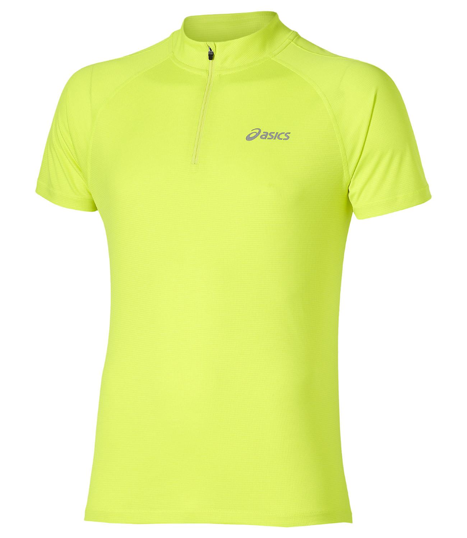 Мужская беговая футболка Asics SS 1/2 Zip Top (110409 0392) желтая