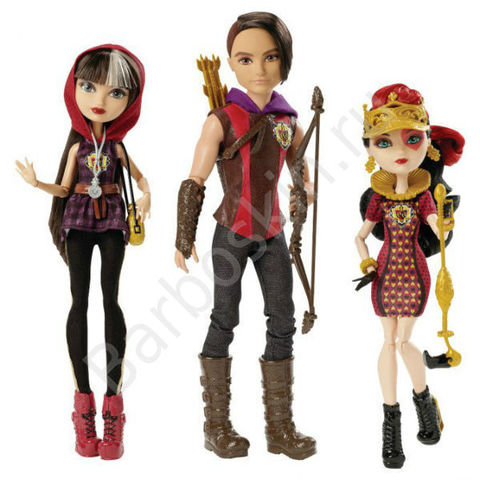 Игровой набор из 3 кукол Ever After High Сериз Худ, Хантер Хантсмен, Лиззи Хартс - Tri Castle On Hunter Huntsman, Cerise Hood, Lizzie Hearts, Mattel