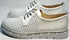 Купить дерби туфли женские с перфорацией GUERO G177-63 White.