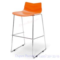Стул барный LEAF-06 оранжевый