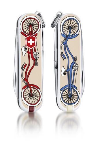 "Нож-брелок Victorinox Classic LE 2015, 58 мм, 7 функций, ""Bicycle"""