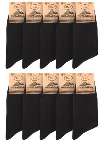 M01 RUZ носки мужские (10шт), черные