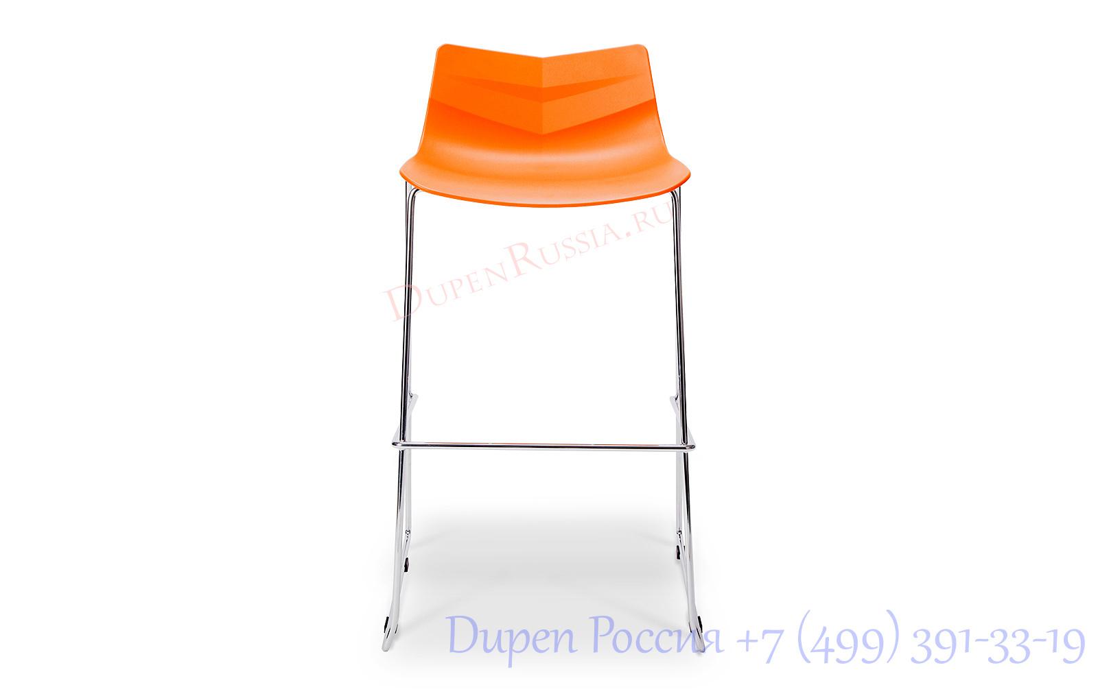 Стул барный Claudio Bellini LEAF-06 оранжевый