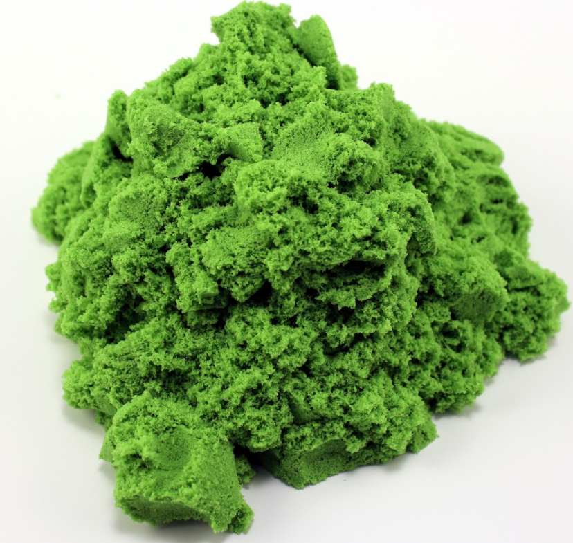 кинетический песок зеленого цвета