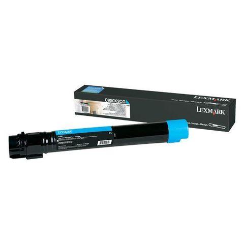 Картридж для принтеров Lexmark C950 синий (cyan). Ресурс 22000 стр (C950X2CG)