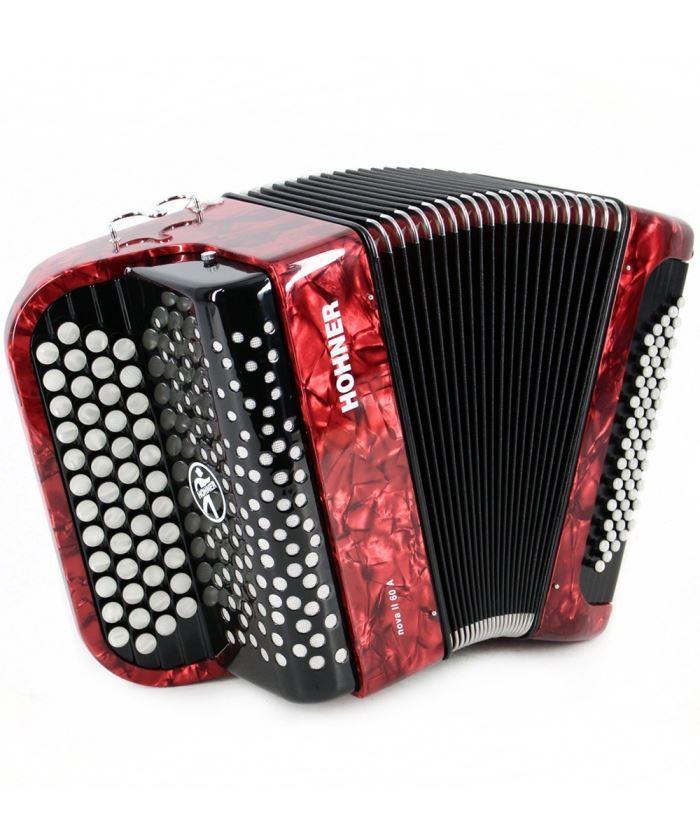 HOHNER Nova II 60 A (A1233) red - кнопочный аккордеон гриф C
