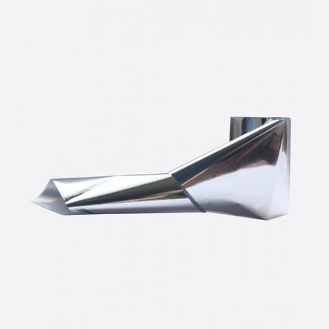 Фольга металлик серебро тонкая 1м х 5см 019