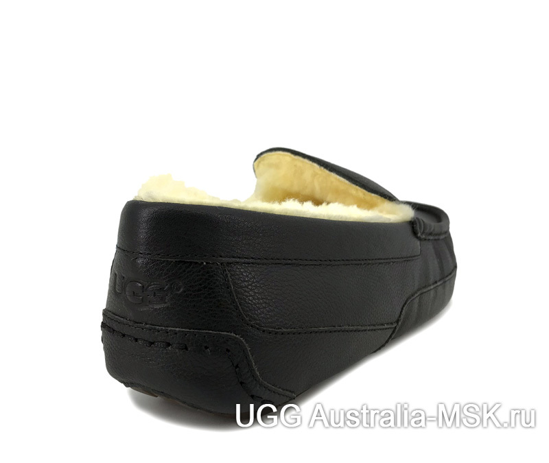 UGG Mens Leather Ascot Black