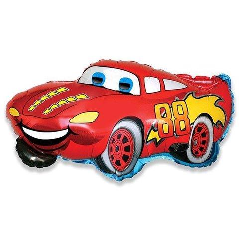 Фольгированный воздушный шар Гоночная машина. Красная.