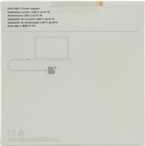 Оригинальный блок питания Apple 61W USB-C Power Adapter MNF72Z/A (A1718)