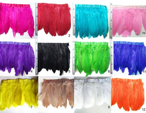 Тесьма  из перьев гуся h-20см.,  (выбрать цвет)