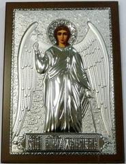 Серебряная икона Ангела Хранителя 21х15см