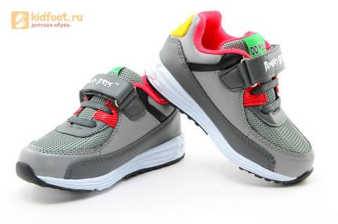 Светящиеся кроссовки для мальчиков Энгри Бердс (Angry Birds) на липучках, цвет темно серый, мигает картинка сбоку. Изображение 8 из 15.