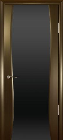 Дверь Океан Буревестник-2, стекло тонированное, цвет венге, остекленная