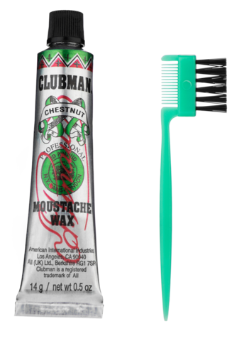 Clubman Воск для укладки и подкрашивания бороды с щеточкой (каштановый),15 млКопировать товар