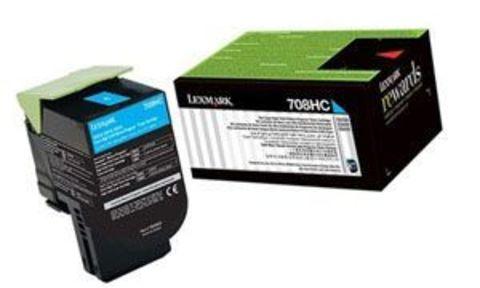 Картридж для принтеров Lexmark CS310/410/510 голубой (cyan). Ресурс 1000 стр (70C80CE)