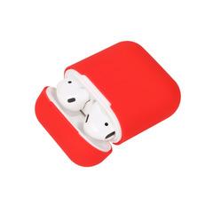 Чехол на airpods силиконовый (красный)