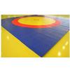 Ковер борцовский трехцветный 12х12м, наполнитель матов ППЭ 200кг/м3, толщина 5см