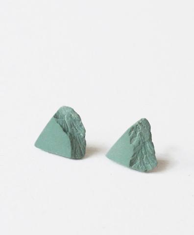Серьги Triangulo Green