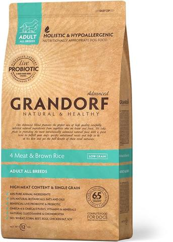 Сухой корм Grandorf Probiotics 4meat & Brown Rice Adult All Breeds от 1 года