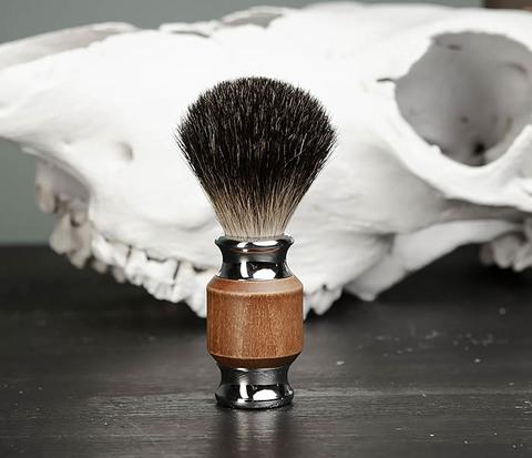 Помазок с деревянной рукояткой, барсучий волос