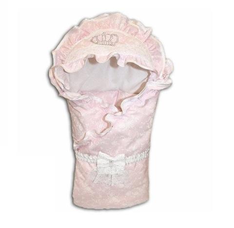 Зимний конверт на выписку для девочки Masterpiece розовый