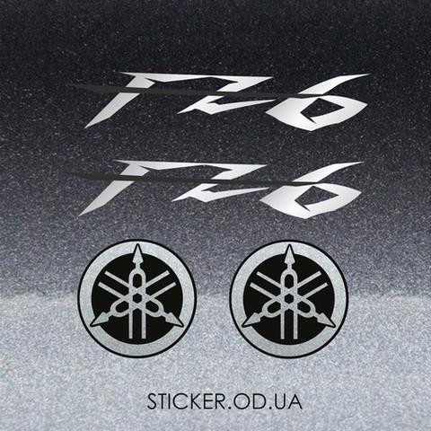Набор виниловых наклеек на мотоцикл YAMAHA FZ6  2006