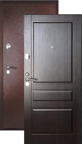 Дверь входная Falko Конструктор М-2, 2 замка, 2 мм  металл, (медь антик+венге кантри)