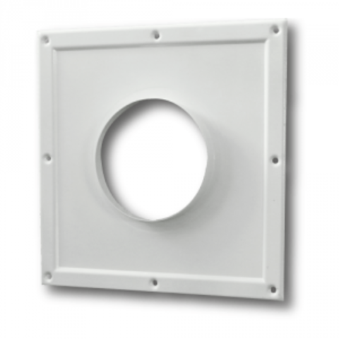 100ПТМ(300х300) Торцовая площадка стальная 295х295/ф100 без решетки, с полимерным покрытием эмалью