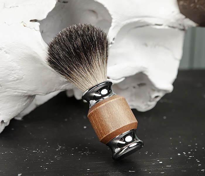 RAZ434 Помазок с деревянной рукояткой, барсучий волос фото 02