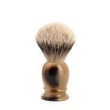 Помазок MUEHLE CLASSIC, барсучий ворс высшей категории Silvertip, смола, цвет рога, размер S (099 K 252)
