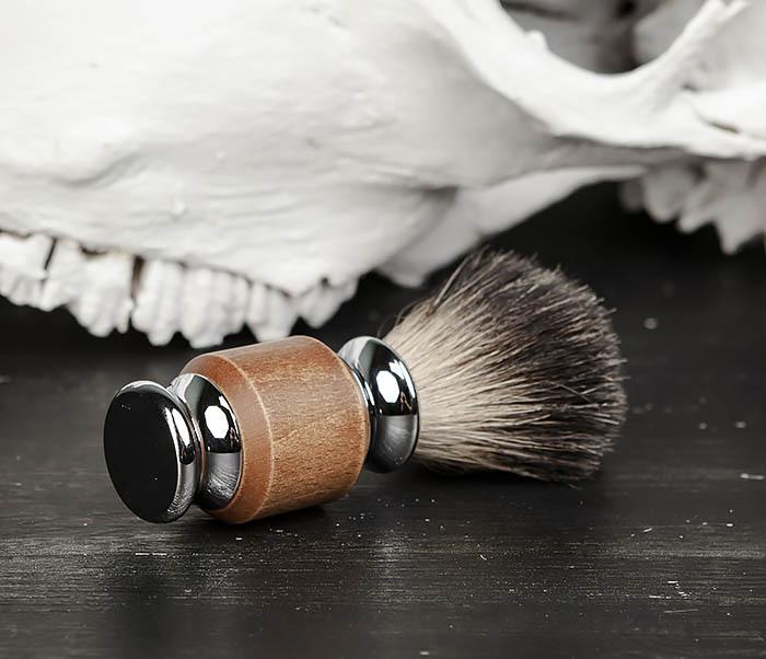 RAZ434 Помазок с деревянной рукояткой, барсучий волос фото 03