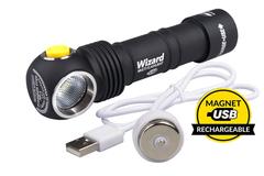 Налобный фонарь Armytek Wizard Magnet USB XP-L (тёплый свет)+18650 Li-Ion