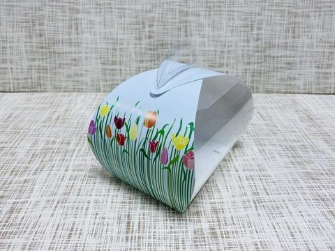 Коробка 10.5х7.5х10 см, картон, с прозрачной крышкой, сундучок,