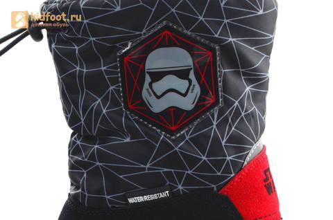 Зимние сапоги для мальчиков непромокаемые с резиновой галошей Звездные войны (Star Wars), цвет черный, Water Resistant. Изображение 14 из 16.