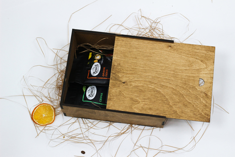 Малый чайный набор №1 в деревянном коробе