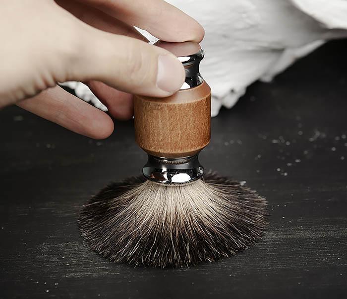 RAZ434 Помазок с деревянной рукояткой, барсучий волос фото 04