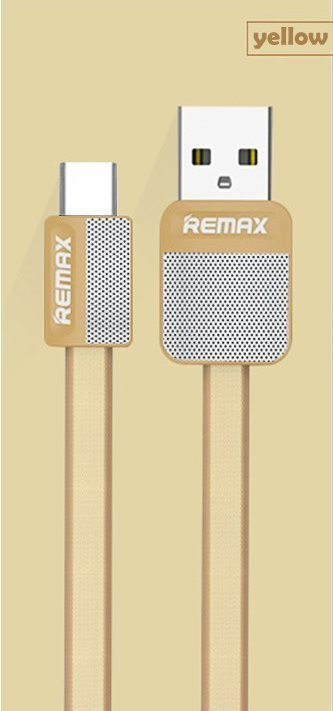 USB-кабель Remax Platinum RC-044a (USB Type-C -microUSB ) 2.1А 1 метр Gold