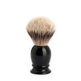 Помазок MUEHLE CLASSIC, барсучий ворс высшей категории Silvertip, черная смола, размер S (099 K 256)