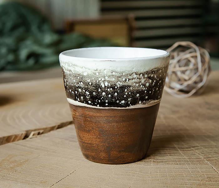 CUP108-2 Красивый стакан ручной работы, серия «Млечный Путь» фото 01