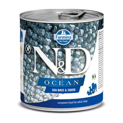 Farmina Dog Ocean Sea Bass & Squid Консервы для собак с Сибасом и кальмаром