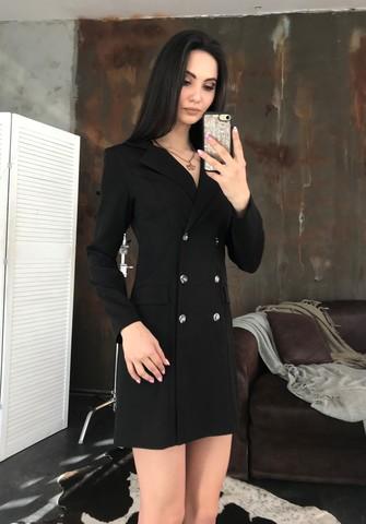 Лиона. Великолепное платье-пиджак. Черный