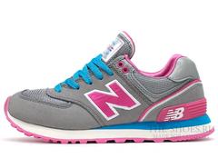 Кроссовки Женские New Balance 574 Grey Pink Blue