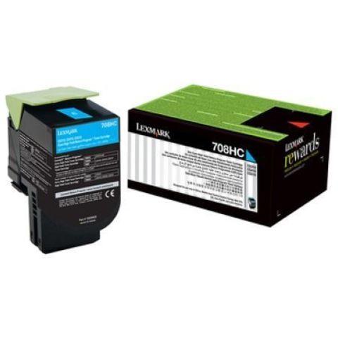 Картридж для принтеров Lexmark CS310/410/510 голубой (cyan). Ресурс 3000 стр (70C8HCE)