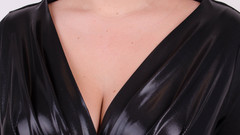 Виагра. Элегантное платье для пышных дам. Черный.