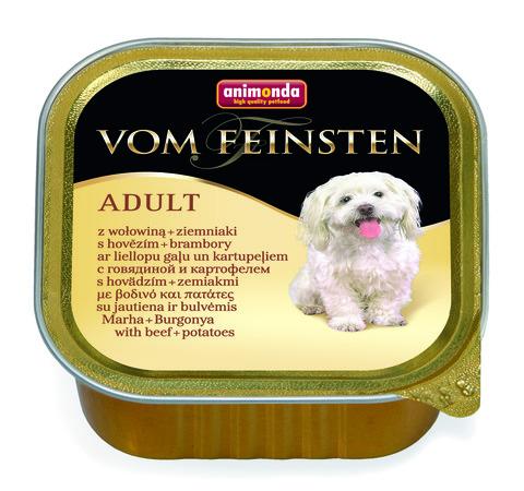 Консервы Animonda Vom Feinsten Adult с говядиной и картошкой для взрослых собак