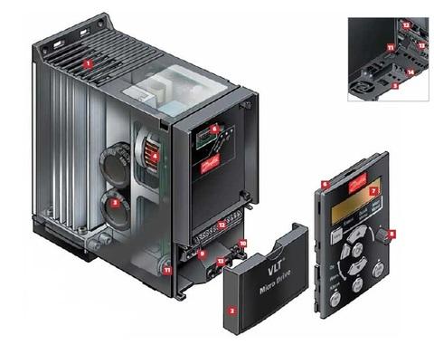 Частотный преобразователь Danfoss VLT Micro Drive FC 51 (0,75 кВт, 220В, 1 ф.) 132F0005